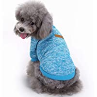 YUSENPET Pet Dog Puppy Classic Sweater Coat Tops Fleece Warm Winter Knitwear Clothes for Small Medium Dogs