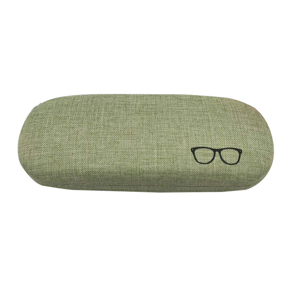 Gr/ün Healifty Sonnenbrillen-Box 1 st/ück Retro Brille Box Elegante Baumwolle und Leinen Kreative Vintage Kurze Brillenetui
