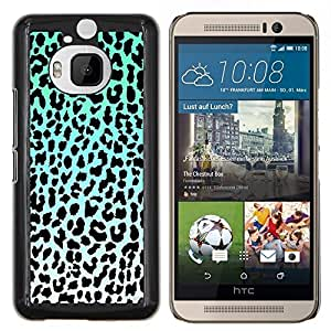 Dragon Case - FOR HTC One M9+ / M9 PLUS - leopard pattern blue black white green - Caja protectora de pl??stico duro de la cubierta Dise?¡Ào Slim Fit