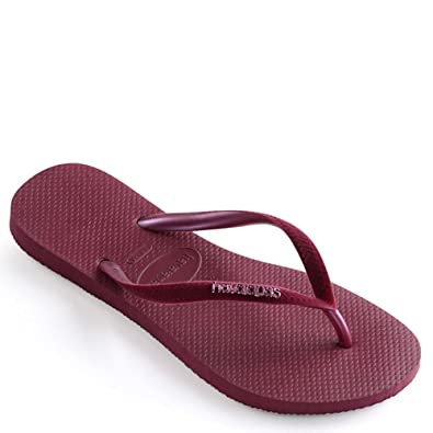 Womens Slim Glitter Cosmic Sandal, Black/Black 35/36 BR (6 M US) Havaianas
