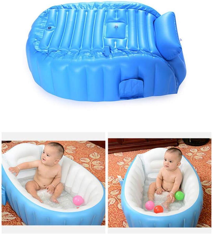 Bleu GoodFaith Baignoire Gonflable pour Enfant avec Pompe /à air pour b/éb/é Plastique 98 * 64 * 28 cm