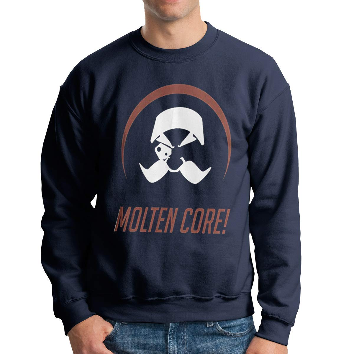 Overwatch Torbjorn Mens Round Neck Sweater Casual Cotton Long Sleeve T Shirts
