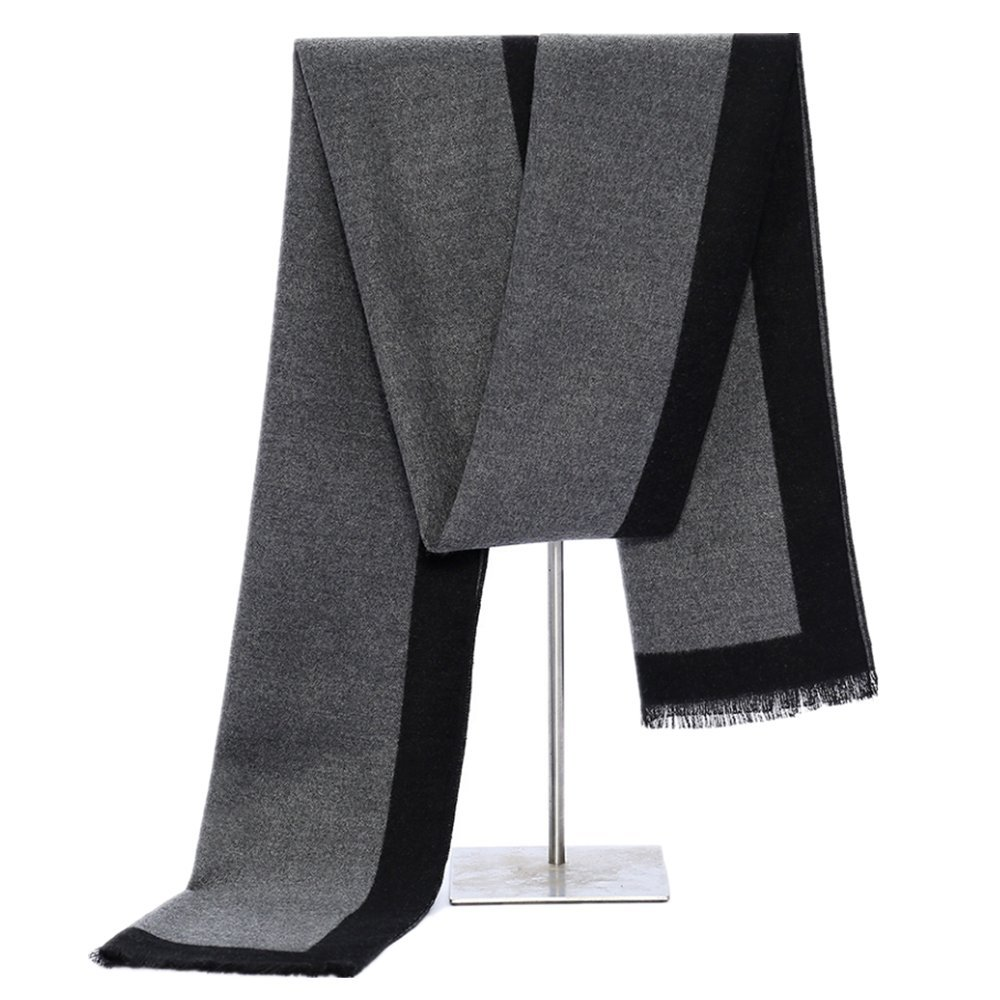 MMYOMI Mens Tartan Plaid Super Soft Cotton /& Silk Knitted Scarves for Autumn and Winter