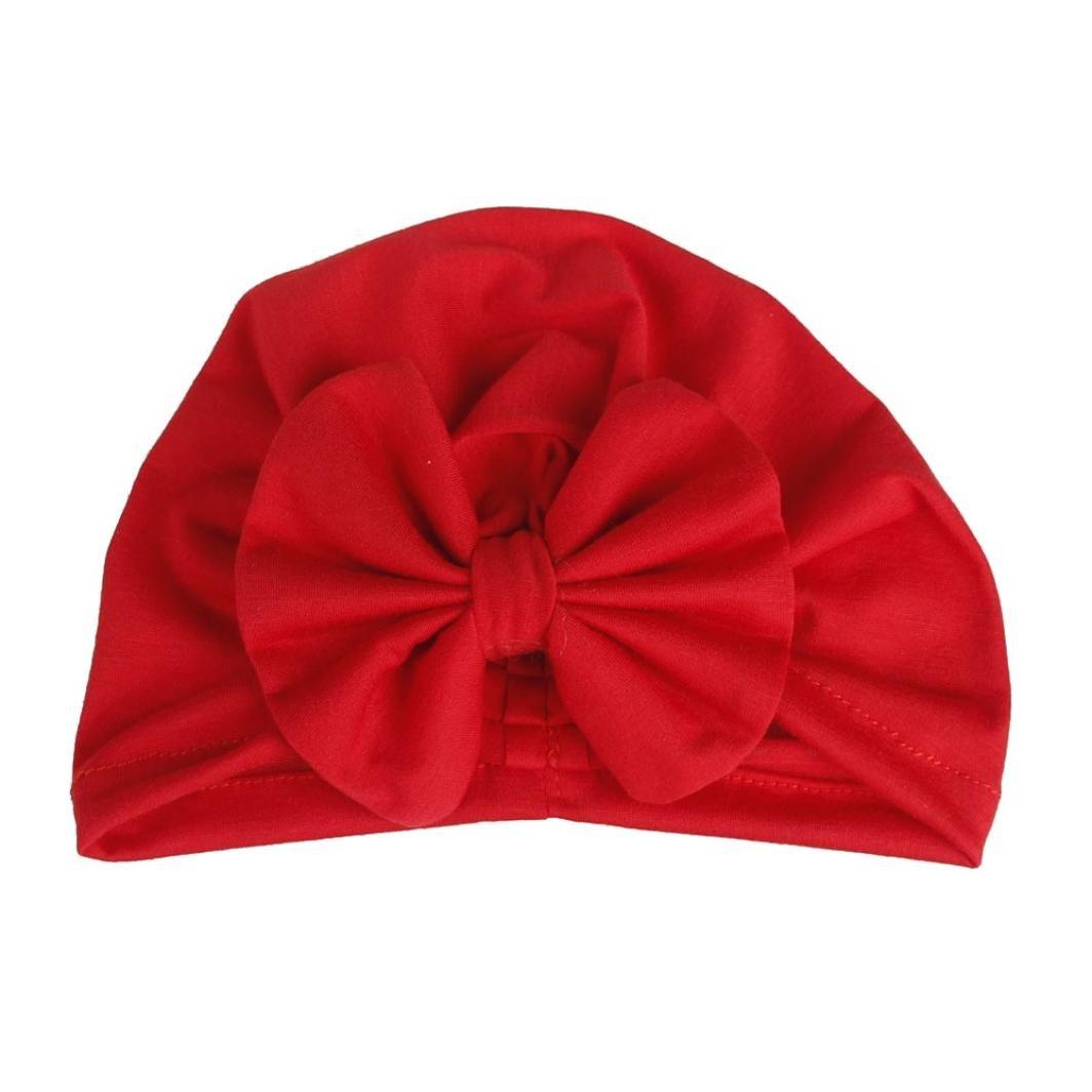 HUHU833 Baby Hats, Baby Girls Tie Indian Hat Newborns Elastic Bronzing Dot Printing Hedging Cap (Black)