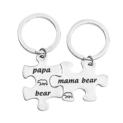 Amazon.com: bobauna Mama Bear Papa Oso Puzzle llavero juego ...