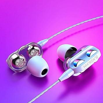 Auriculares Deportivos Auriculares con Cable con Micrófono In-Ear ...
