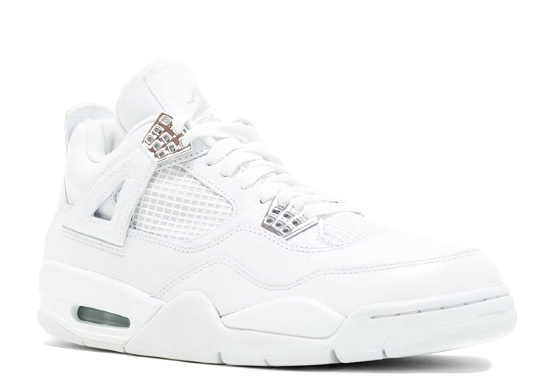 3c1912b2e14 Amazon.com | Air Jordan 4 Retro 'Pure' - 308497-102 - Size 12 White,  Metallic Silver | Basketball