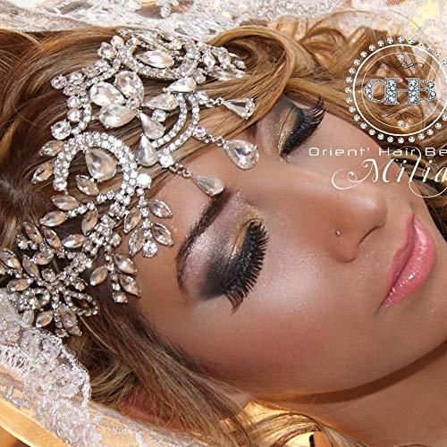 Headpieces Crown, Tiara, BELLA VOGUE 1920s Vintage Rhinestone Hair Wear Jewelry Headdress Headband for Bride Bridal Wedding