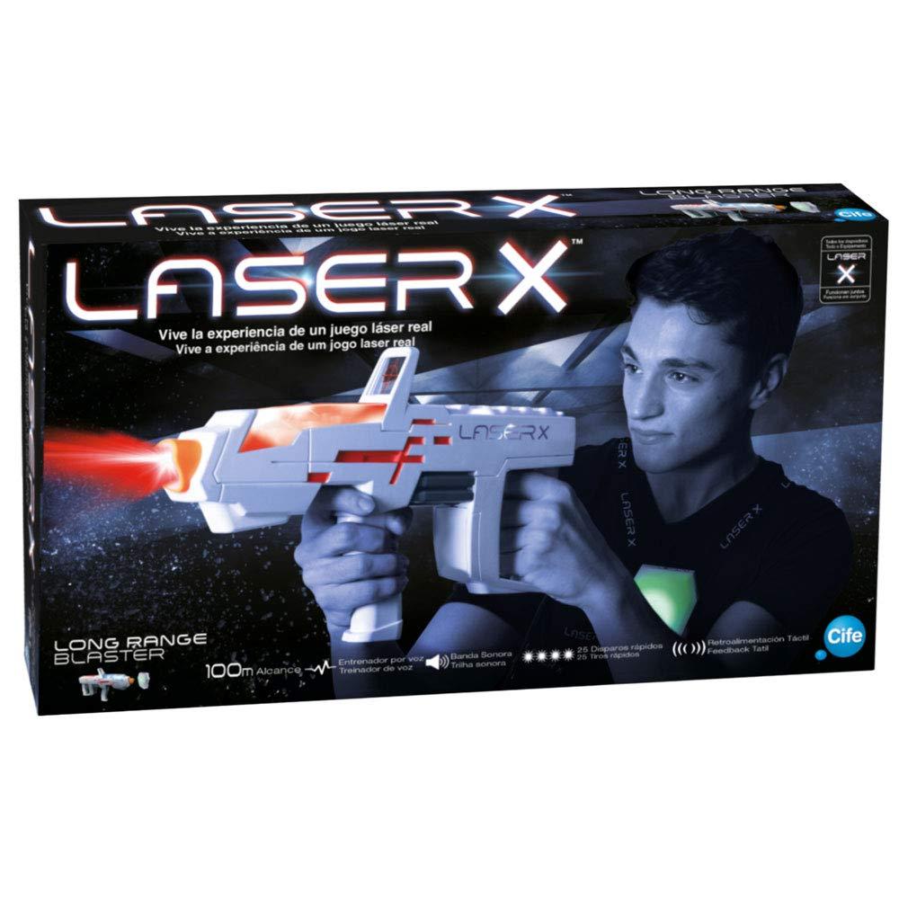 Laser X pislola Lasertoner Einzelbett lang Reichweite (CIFE 98235)