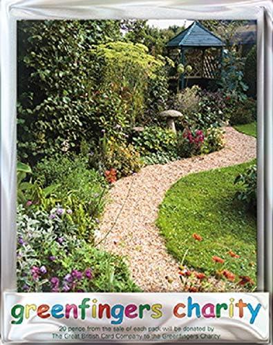 Paper House GFNG0012 - Tarjetas de felicitación (4 unidades, diseño de cenador de jardín), color blanco: Amazon.es: Oficina y papelería