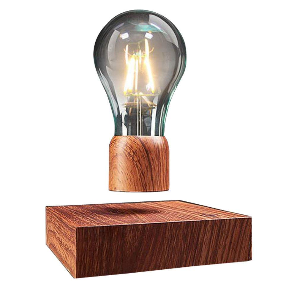 Magnetic Levitating Floating Wireless LED Light Bulb Desk Lamp for Unique Gifts, Room Decor, Night Light, Home Office Decor Desk Tech Toys. by Rio Dee by Rio Dee