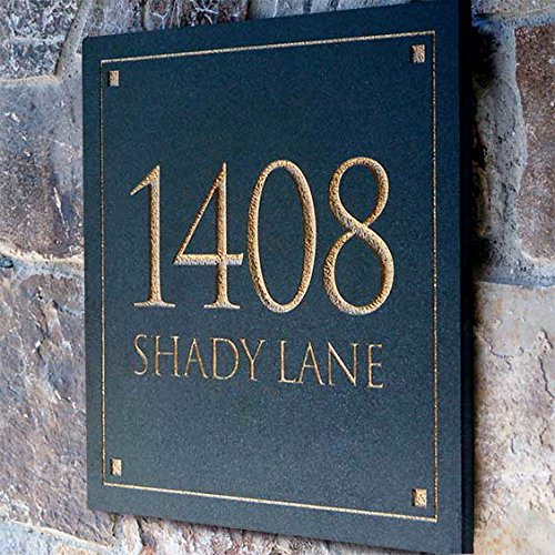 - Engraved Stone Address Plaque. These plaques are made from solid, real stone