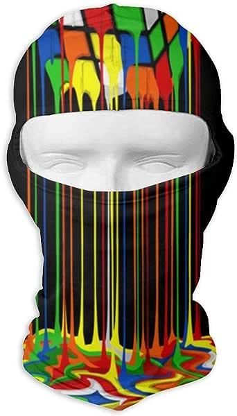 CAClifestyle Rainbow Surfing Unisex Windproof Balaclavas Full Face Mask Hood