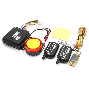 sourcing map 2 Vías Sistema de Alarma Antirrobo Motocicleta Control Remoto de Arranque del Motor 125Db