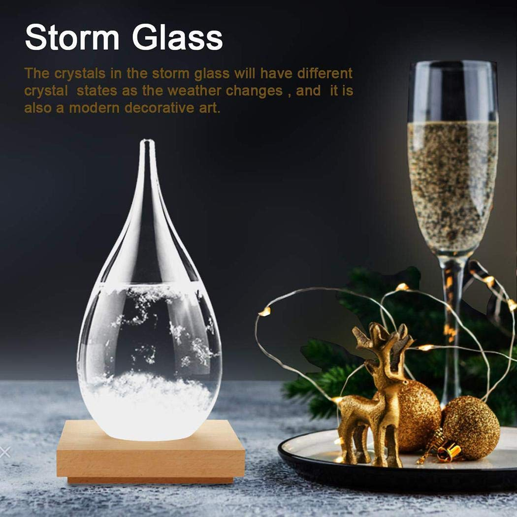 Queind Creative Weather Storm Glass Home Decoration Ornament Party Gift Vases