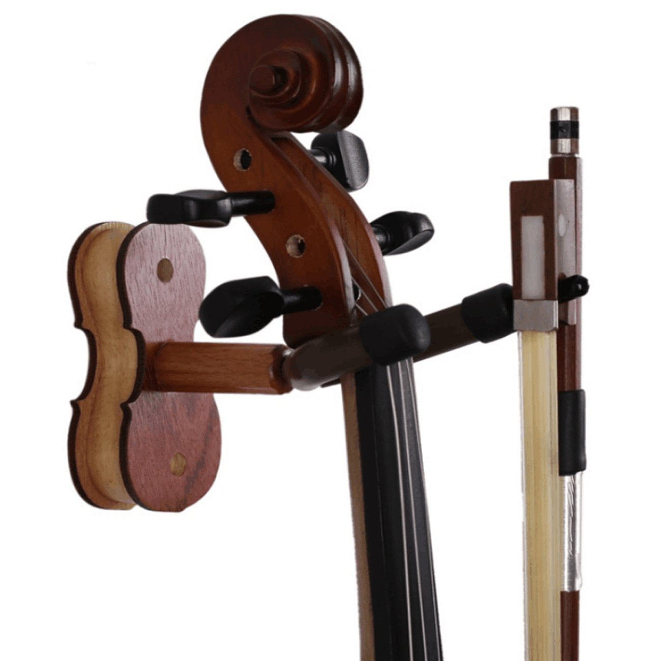 Violin Hanger,Crosstree Hardwood Rosewood Violin hook with Bow Hanger for Wall Amount Home & Studio Use (Rosewood) Crosstreesports