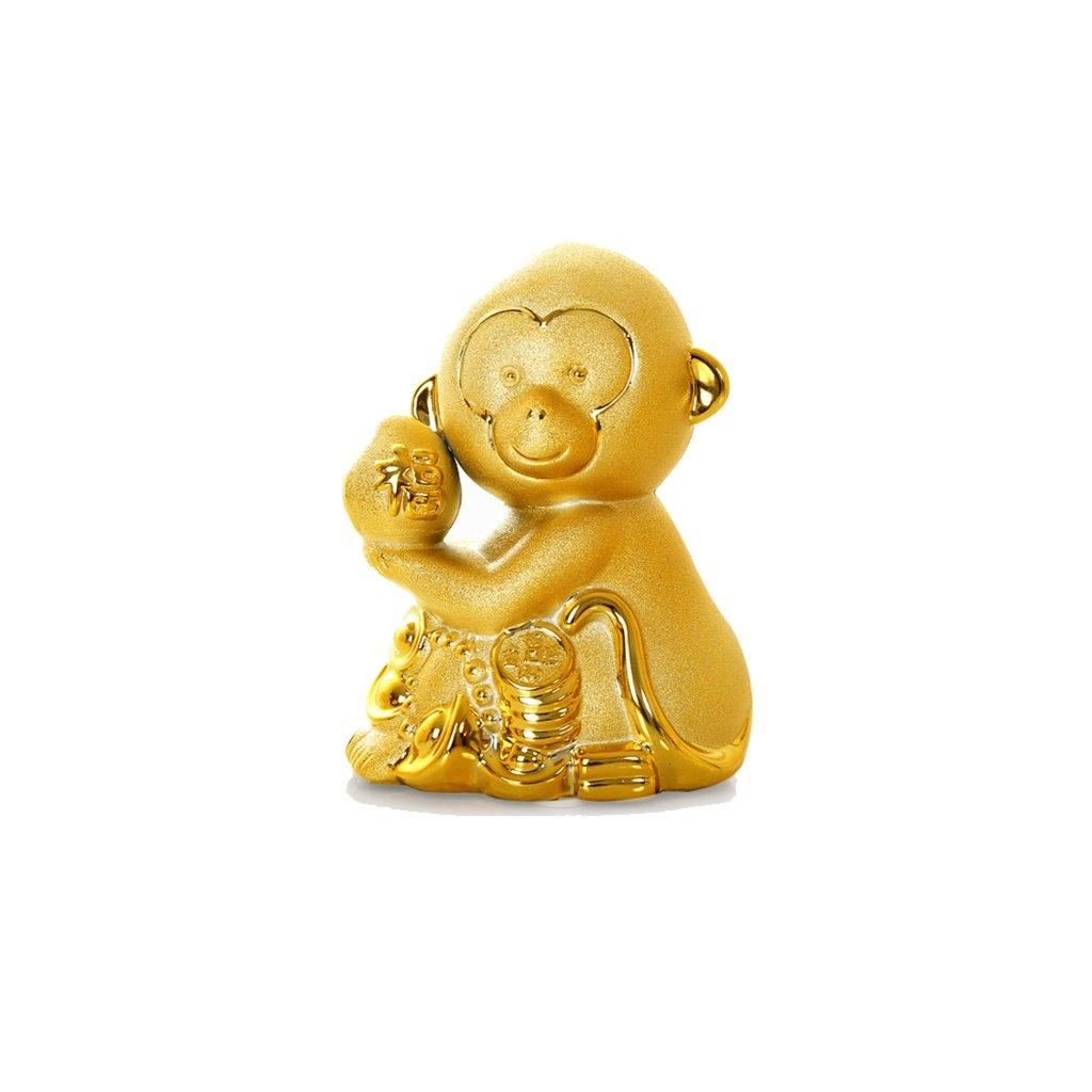Piggy Bank Ceramic Decoration Monkey Cartoon Gift (Size : S) by XXDP (Image #1)