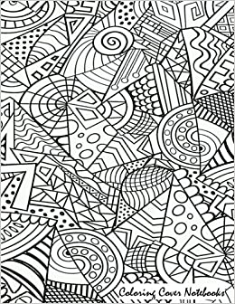 Coloring Cover Sketchbook Shards For Sketching Drawing Writing Research And Journaling With Design On Therapy