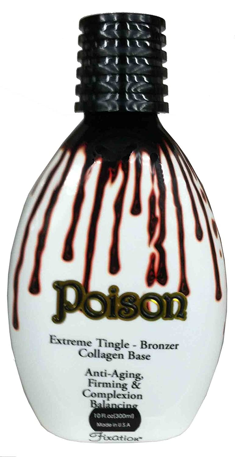Poison 11 oz Hot Tingle Bronzer Tanning Lotion By Fixation Ultimate