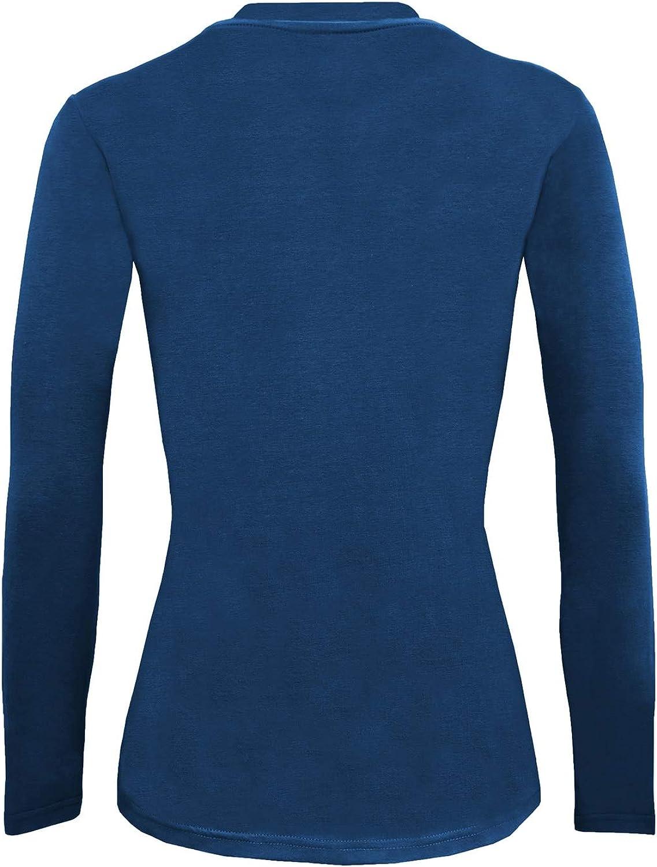 Natural Uniforms Women/'s Long Sleeve Under-scrub Stretch T-Shirt Scrub Top