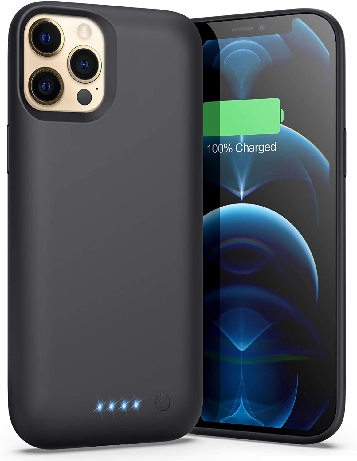 Battery Case for iPhone 12 Pro Max (6.7inch), [7800mAh] Portable Protective Charging Case Extended Battery Pack Rechargeable Slim Charger Case for Apple iPhone 12 Pro Max (Black)