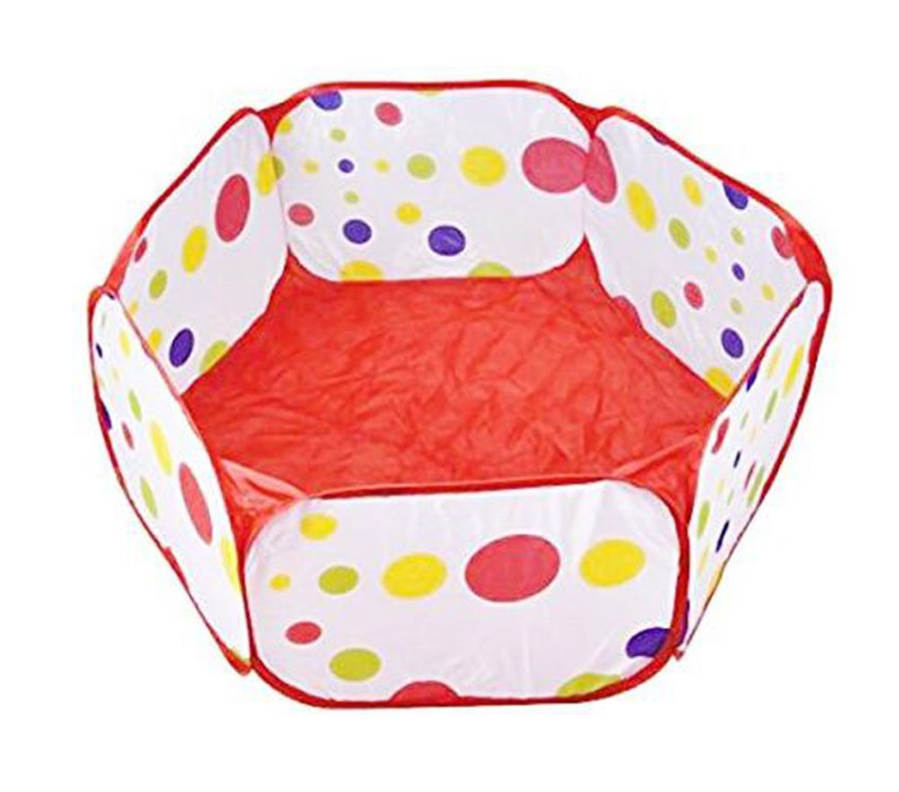 LAAT Creative Baby Ball Tent Toddler Ball Pit Portable Ball Pool Hexagon Polka Dot Play House Crush Pit Colorful Playpen Ball Tent Folding Toys Storage Bag (Balls not Included)-1PC size 135*70*45cm (L)