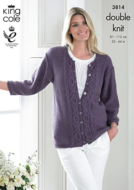 Amazon King Cole Ladies Sweater Cardigan Baby Alpaca Dk