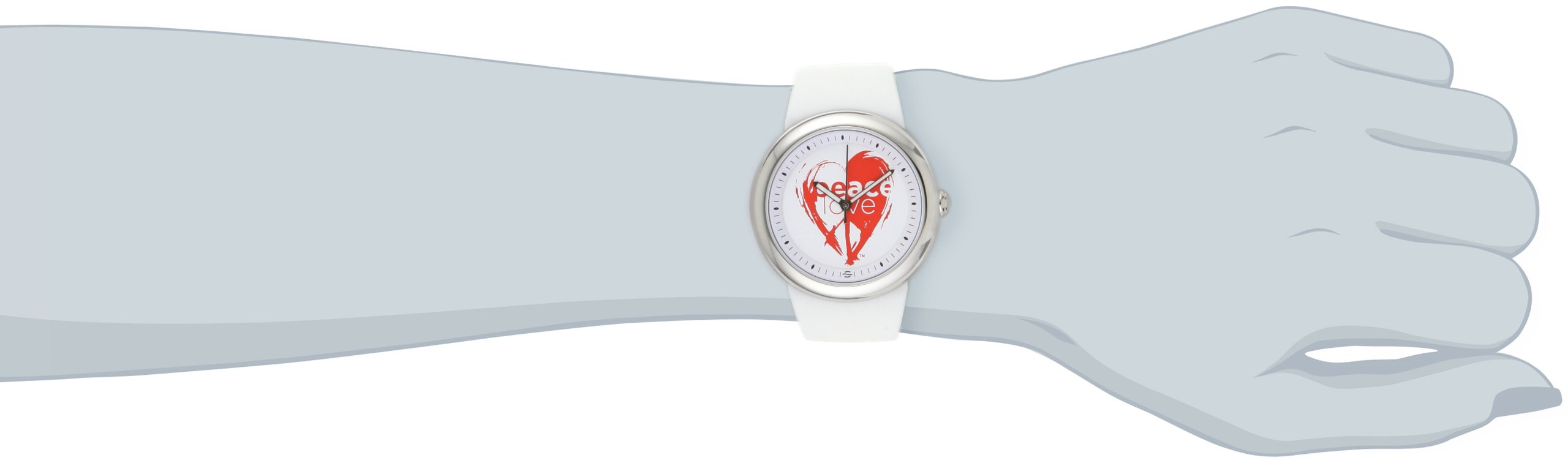 PeaceLove Unisex F36S-PL-W ''Sparr'' Art Dial Stainless Steel Watch by Love & Peace (Image #2)