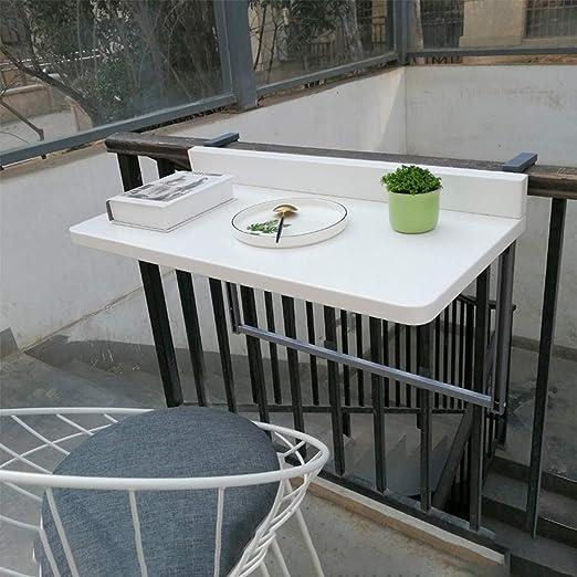 CPPI-1 JUMO Mesa De Barandilla, Ajustable Mesa Plegable Balcon ...