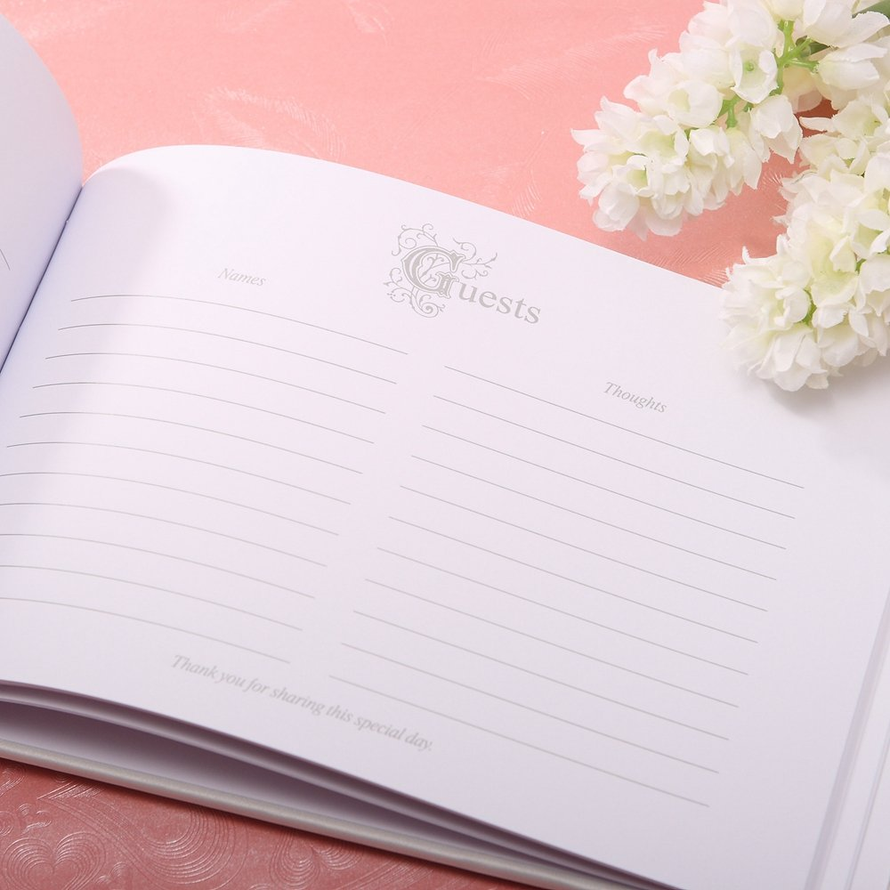 KateMelon Wedding Accessories / Satin Guest Book with Pen Set in Classic Black and White