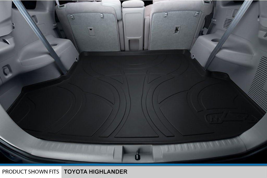 Black MAXLINER B0037 Floor Mats for Toyota Highlander 2008-2013 2nd Row