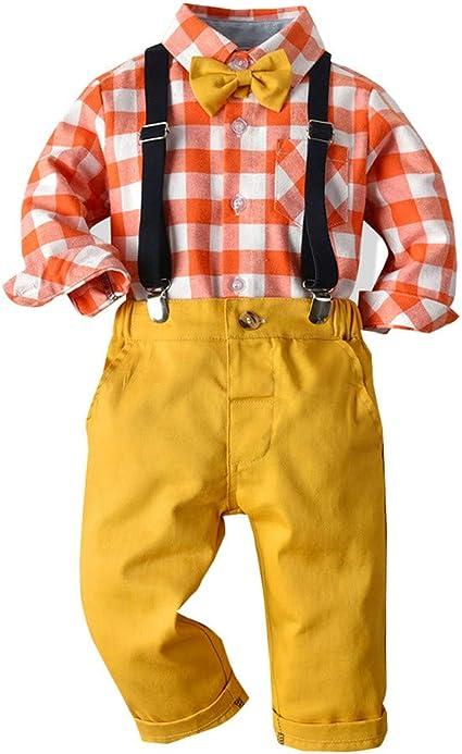 Toddler Boys SS Orange /& Blue Plaid Shirt and Khaki Pants Set Size 2T NEW!