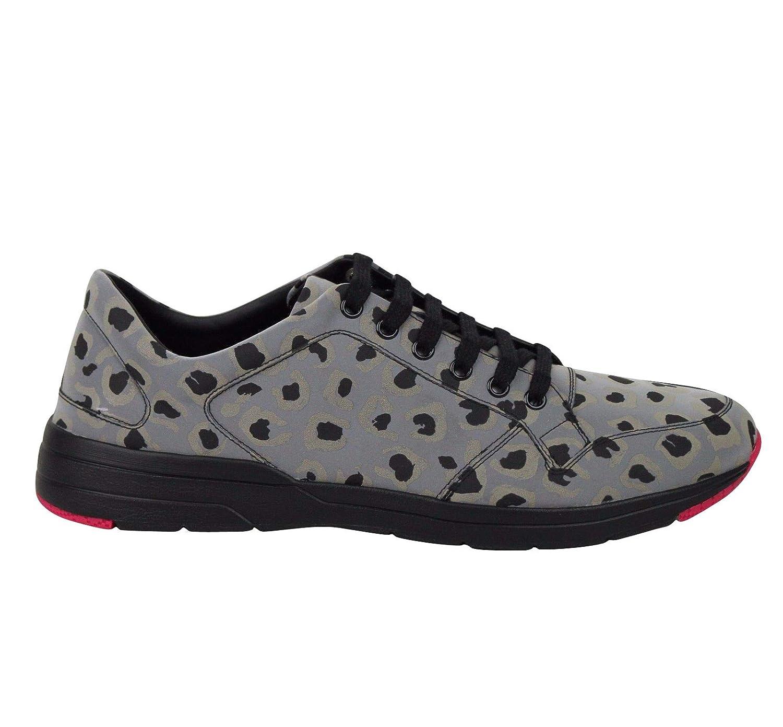 90872697790d Amazon.com: Gucci Reflex Leopard Print Gray Fabric Running Sneakers 368485  1400: Shoes