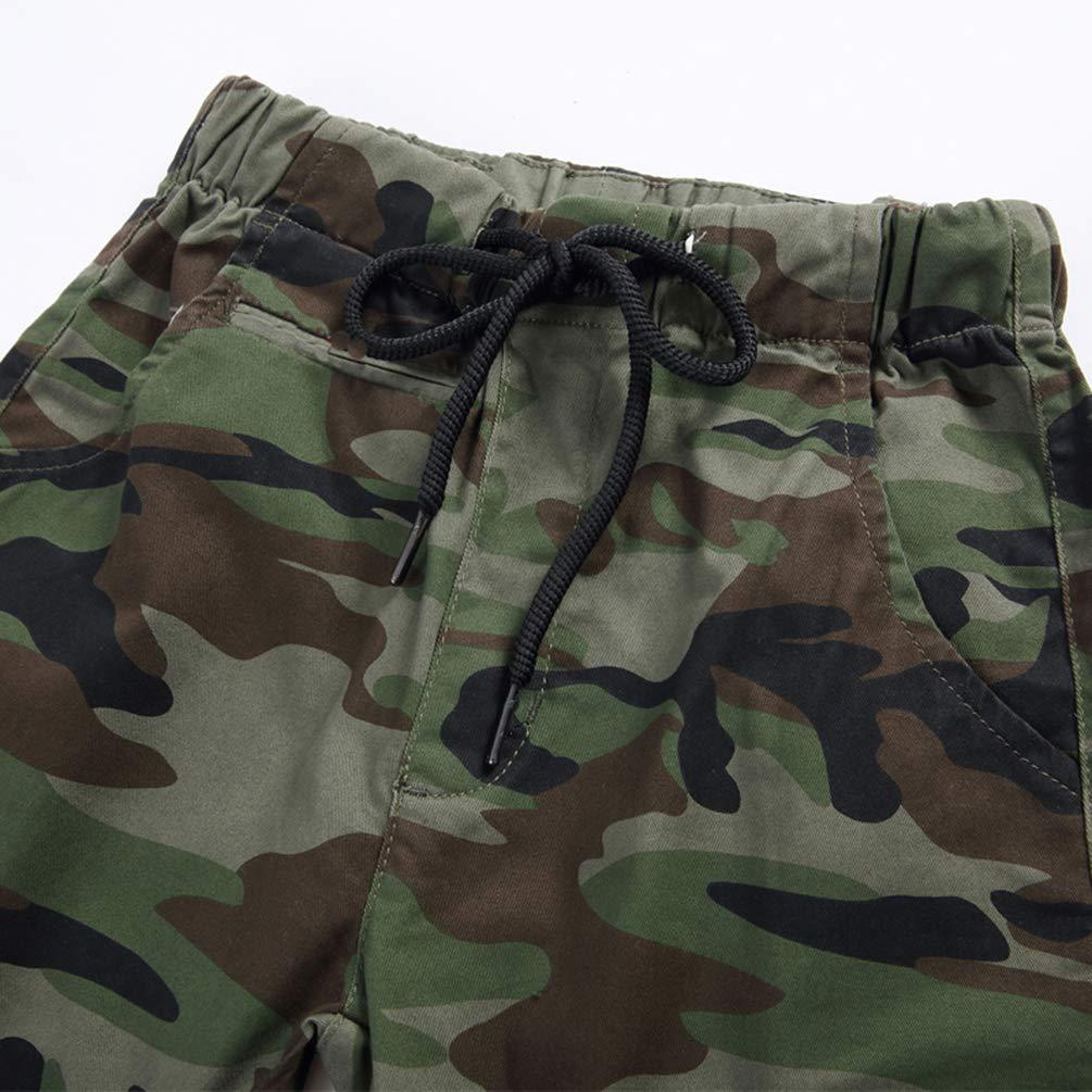 Pantaloni mimetici Ragazzo Cargo con tasconi Laus Pantaloni Jogging Bambino Elastico in Vita