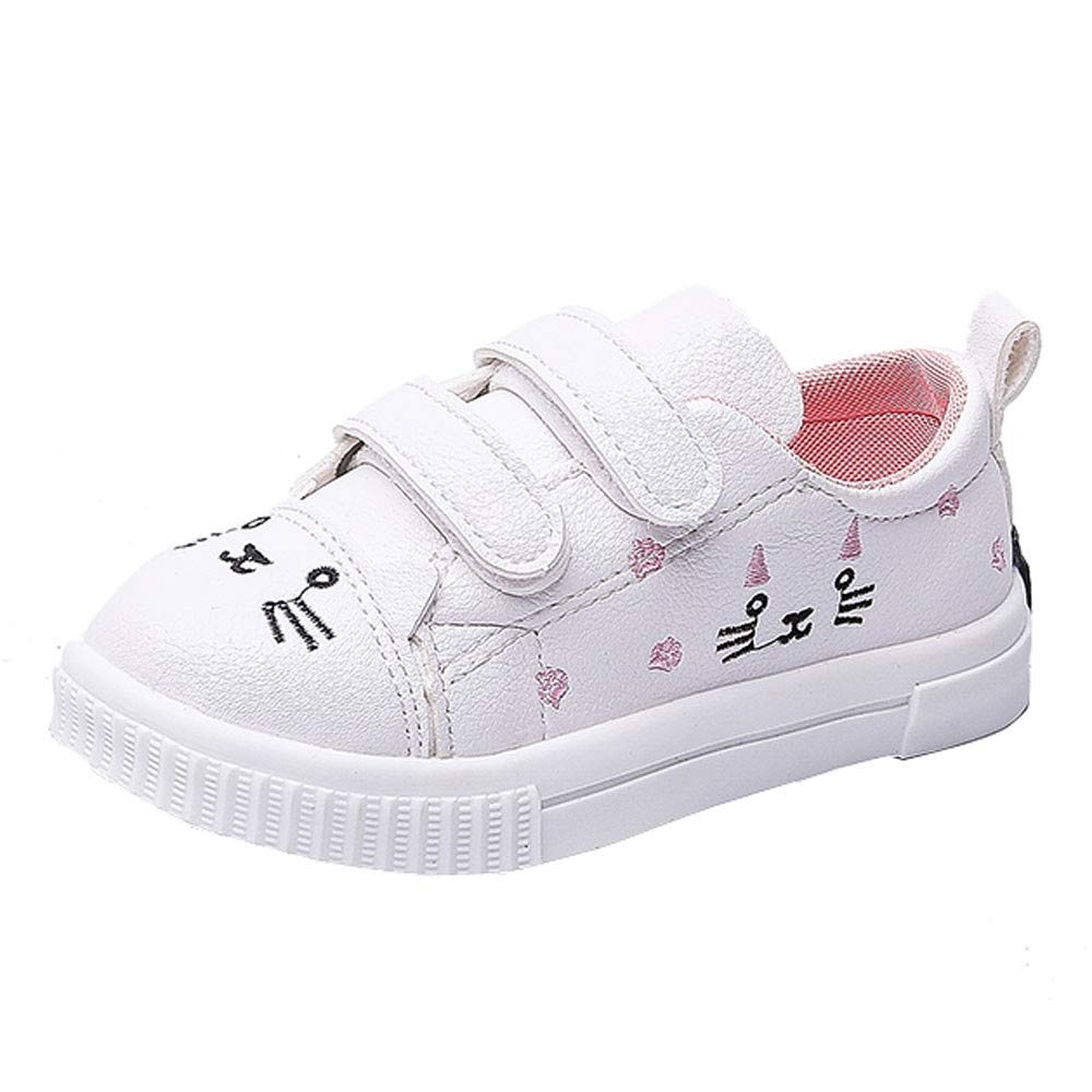 Kasien Baby Shoes, Kids Boys Girls Cat Sneakers Sports Running Shoes Baby Infant Casual Shoes (White, 6-12 Months) by Kasien (Image #1)