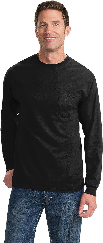 Port /& Company Mens Tall Essential Long Sleeve Pocket T Shirt
