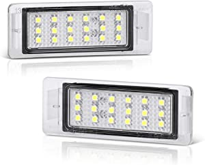 VIPMOTOZ Full LED License Plate Light Tag Lamp Assembly Replacement Pair For Chevy SS Corvette Equinox Impala Traverse GMC Terrain Buick Cadillac - 6000K Diamond White, 2-Piece Set
