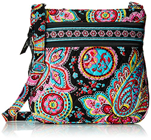 Vera Bradley Triple Zip Hipster Cross Body Bag Parisian Paisley One Size