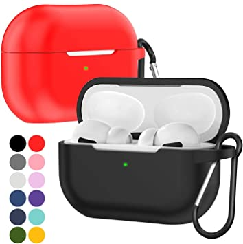 Amazon Com 2 Pack Ivoler For Airpods Pro Case With Keychain
