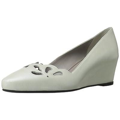 Amazon.com | Aquatalia Women's Paris Ballet Flat, Pearl Metal Nappa, 8 M US | Flats