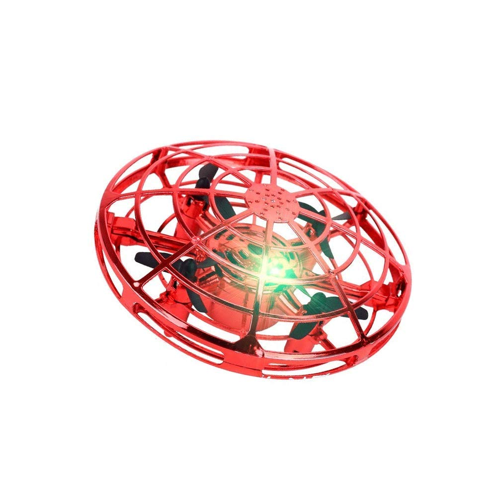 ROCK RARA Mini UFO Drone Kids Helicopter Toy Flying Ball Toys Birthday Gift Kids Boys Girls (Red) by ROCK RARA
