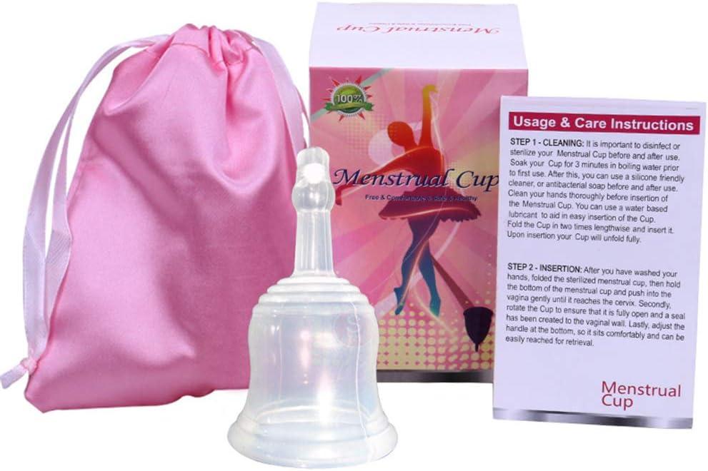 Suave Copa Menstrual,Grado Médico Silicona Hipoalergénica ...