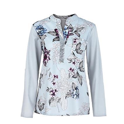 Mujer blusa camiseta tops manga larga Otoño,Sonnena Las mujeres más el tamaño con cuello