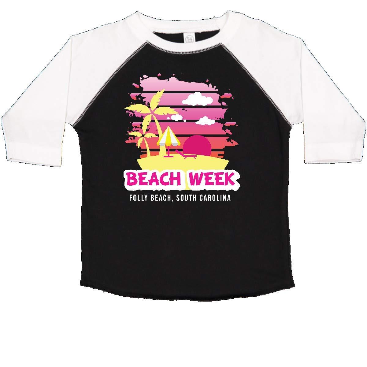 inktastic Beach Week Folly Beach South Carolina with Palm Trees Toddler T-Shirt