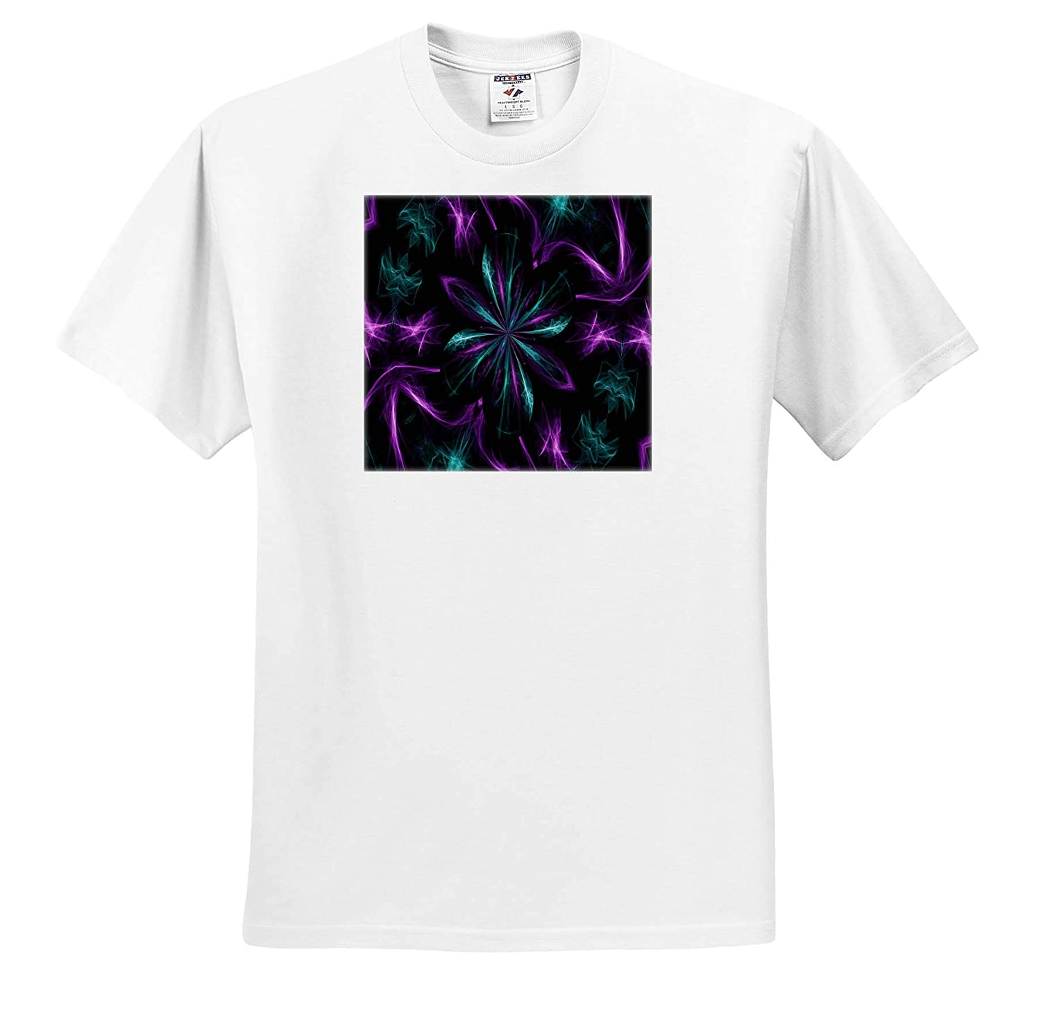 ts/_314281 Design 3dRose Dreamscapes by Leslie Purple and Teal Dreamscapes Design 1 Adult T-Shirt XL