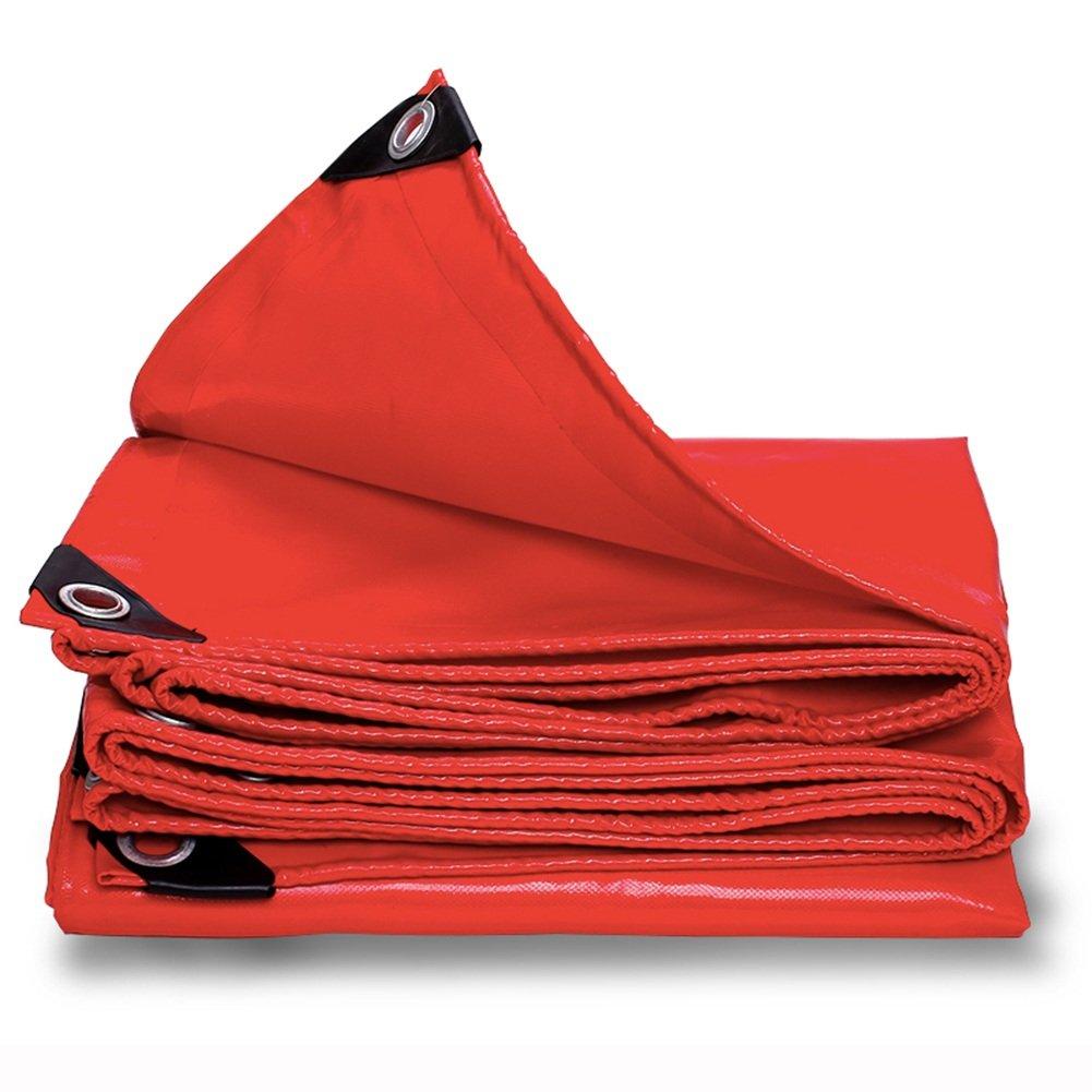JIANFEI オーニング 防水 耐寒性防塵サンスクリーン暗号化素材ベース布、厚さ0.45mmをカスタマイズ可能 (色 : Red, サイズ さいず : 3.8x3.8m) B07FT29QY2 3.8x3.8m|Red Red 3.8x3.8m