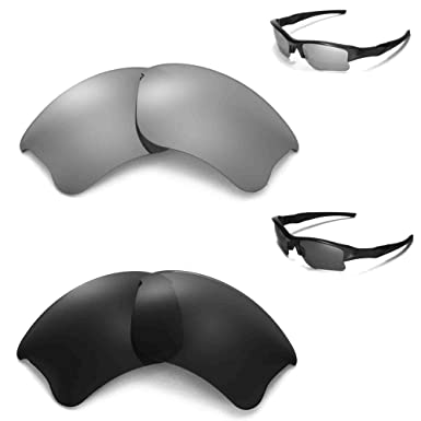 59b13b9e7e6 New Walleva Polarized Black + Titanium Lenses For Oakley Flak Jacket ...