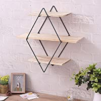 Bookcase Shelving, Iron Shelf Art Wooden Wall Brackets Supporter Bracket Retro Solid Wood Industrial Decorative Wall Coat Hanger