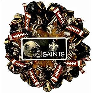 New Orleans Saints Football Handmade Deco Mesh Sports Wreath 118