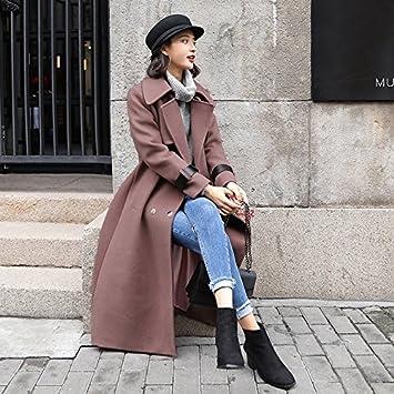 Womens HIDRRU la lana es la lana de Corea sub-coat otoño e invierno nueva